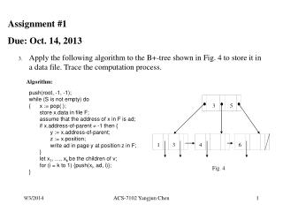 Assignment #1 Due: Oct. 14, 2013