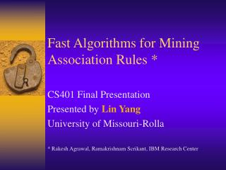 Fast Algorithms for Mining Association Rules *