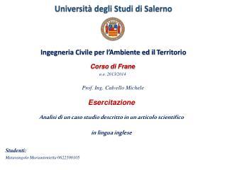 Universit�  degli Studi di Salerno