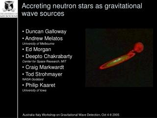 Accreting neutron stars as gravitational wave sources