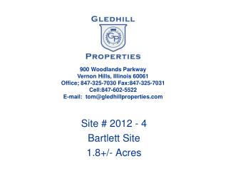 Site # 2012 - 4 Bartlett Site 1.8+/- Acres