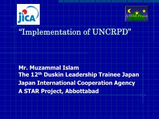 �Implementation of UNCRPD�