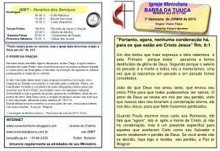 IMBT – Horários dos Serviços
