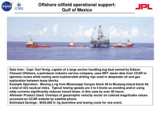 Offshore oilfield operational support:  Gulf of Mexico