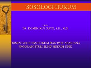 SOSOLOGI HUKUM