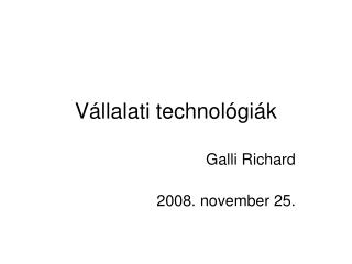 Vállalati technológiák