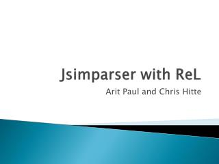Jsimparser  with  ReL