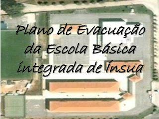 Plano de Evacuação da Escola Básica integrada de Ínsua