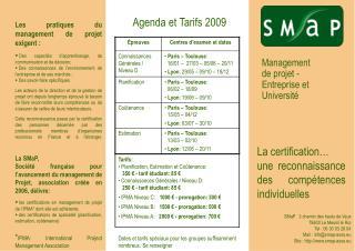 Management  de projet -  Entreprise et  Université