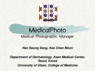 MedicalPhoto Medical Photographic Manager