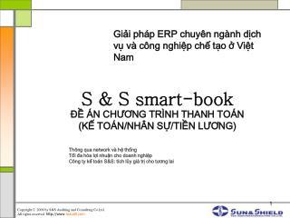 S & S smart-book ĐỀ ÁN CHƯƠNG TRÌNH THANH TOÁN  (KẾ TOÁN/NHÂN SỰ/TIỀN LƯƠNG)