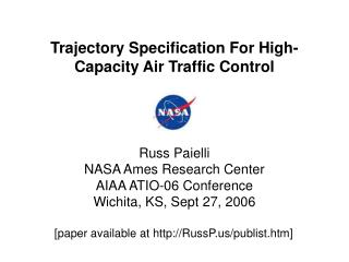 Trajectory Specification For High-Capacity Air Traffic Control