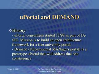 uPortal and DEMAND