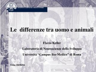 Le  differenze tra uomo e animali