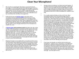 Clean Your Microphone!