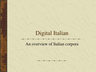 Digital Italian