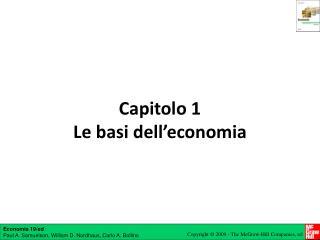 Capitolo 1 Le basi dell'economia