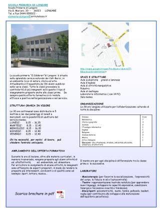 SCUOLA PRIMARIA DI LONGARE  Scuola Primaria di Longare