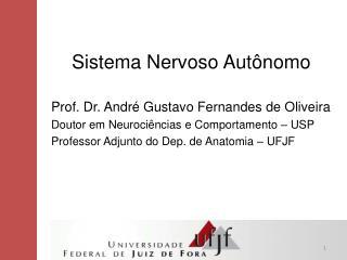 Sistema Nervoso  A utônomo Prof. Dr. André Gustavo Fernandes de Oliveira