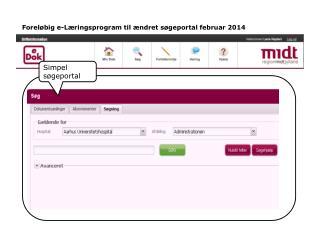 Foreløbig e-Læringsprogram til ændret søgeportal februar 2014