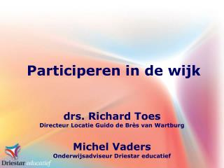 Participeren in de wijk