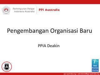 Pengembangan Organisasi Baru