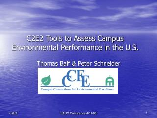 C2E2 Tools to Assess Campus Environmental Performance in the U.S.