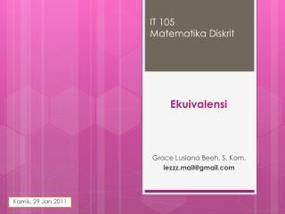 IT 105 Matematika Diskrit
