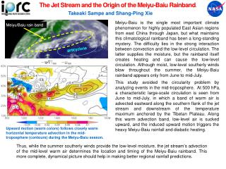 The Jet Stream and the Origin of the  Meiyu-Baiu Rainband .
