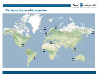 Wichtigste Offshore-Fördergebiete