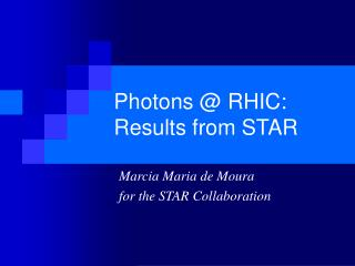 Photons @ RHIC: Results from STAR