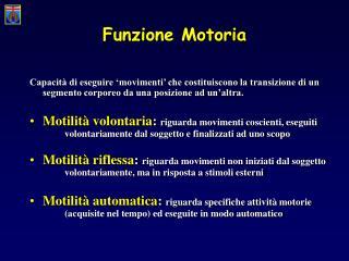 Funzione Motoria