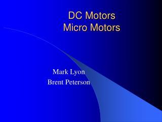 DC Motors Micro Motors