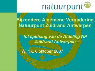 Wilrijk, 6 oktober 2007