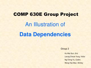 COMP 630E Group Project