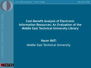 Hacer BATI Middle East Technical University