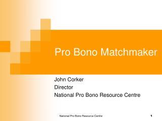 Pro Bono Matchmaker