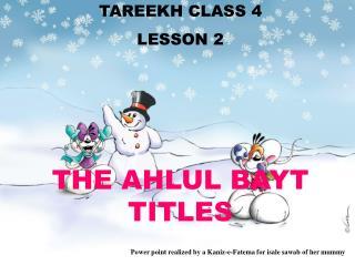 TAREEKH CLASS 4 LE SSON 2