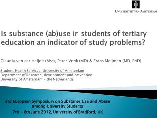 Is substance  ( ab )use  in students of tertiary education an indicator of study problems?