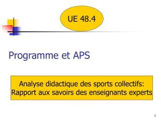 Programme et APS