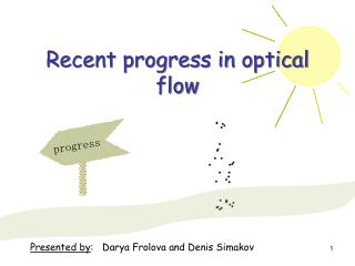 Recent progress in optical flow