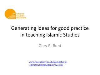 Generating ideas for good practice in teaching Islamic Studies