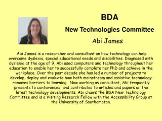 BDA New Technologies Committee