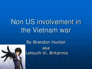 Non US involvement in the Vietnam war