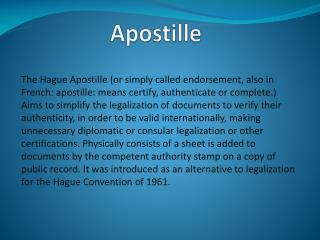 What is apostille definition and how to apostille a document