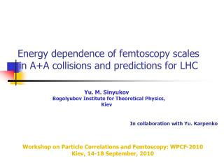 Energy dependence of femtoscopy scales in A+A collisions and predictions for LHC