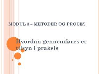 MODUL 3 – METODER OG PROCES