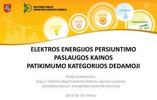 ELEKTROS ENERGIJOS PERSIUNTIMO PASLAUGOS KAINOS  PATIKIMUMO KATEGORIJOS DEDAMO JI