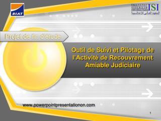 Outil de Suivi et Pilotage de l'Activité de Recouvrement Amiable Judiciaire