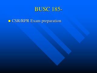 BUSC 185-